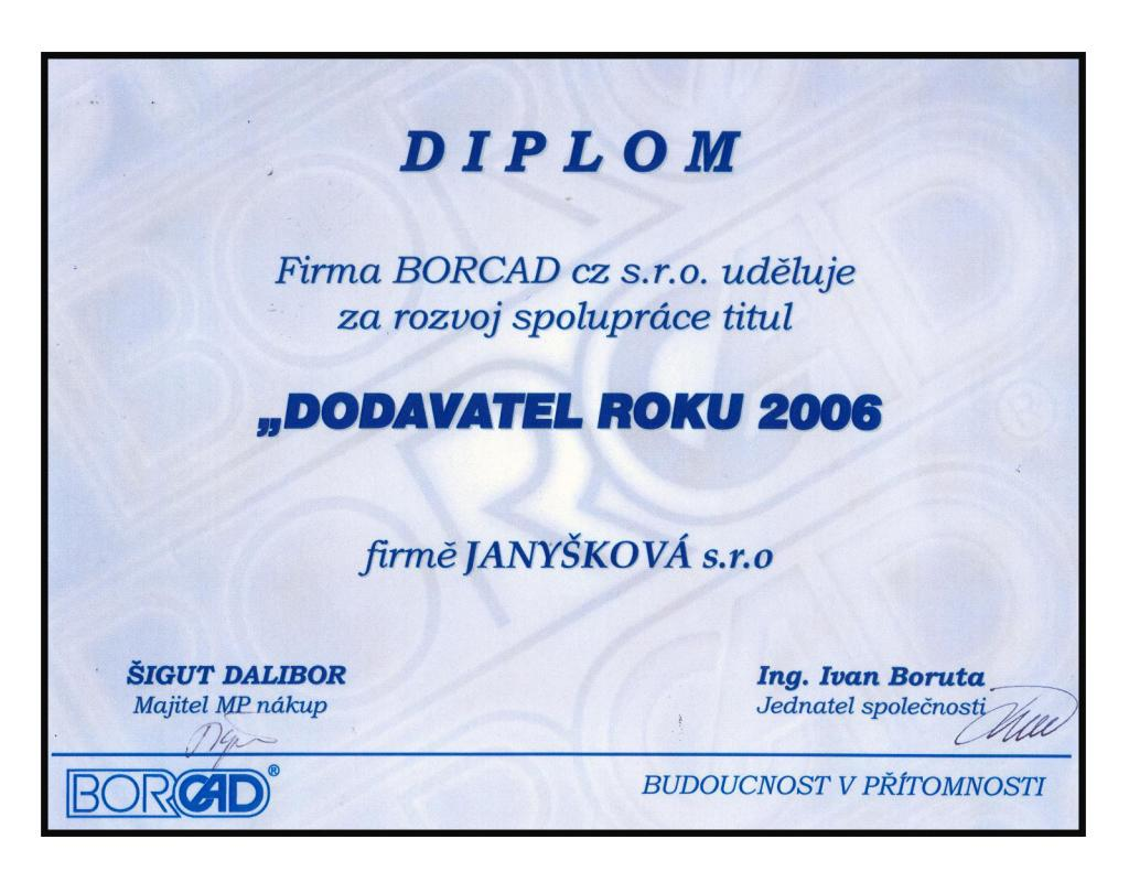 Dodavatel roku 2006